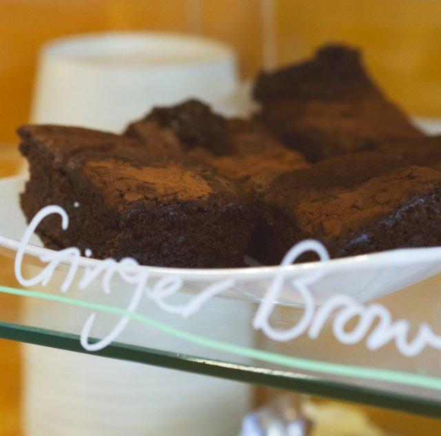 Vegan ginger brownies at Union of Genius