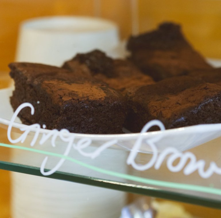 Vegan ginger brownies at Union of Genius