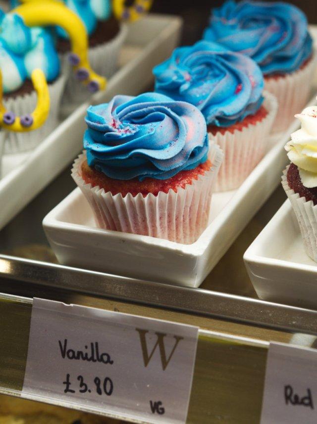 Vegan vanilla cupcake at Café W Edinburgh
