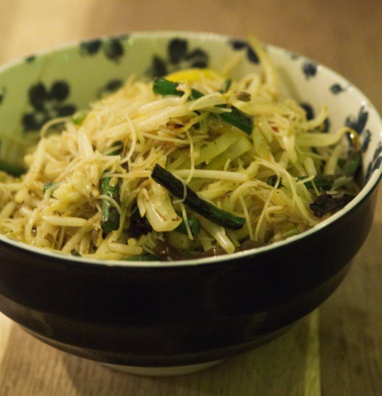 Vegan Singapore Rice Noodles at Wee Buddha Edinburgh