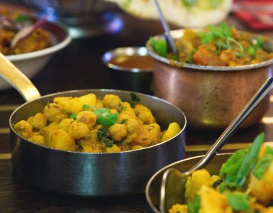 Vegan food at Mother India, Edinburgh