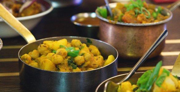 Vegan food at Mother India, Edinburgh