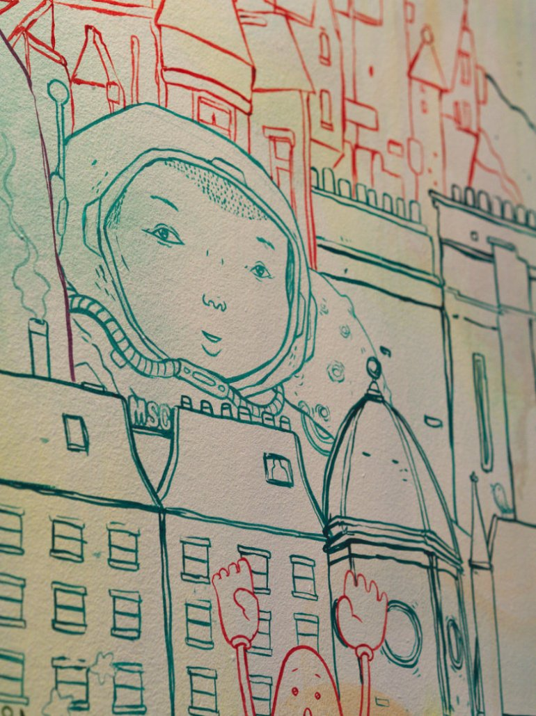 Mural at Soul Sushi Edinburgh