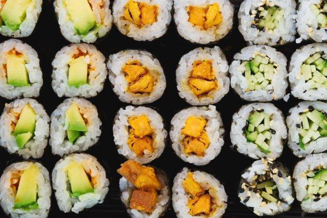Vegan sushi at Soul Sushi Edinburgh