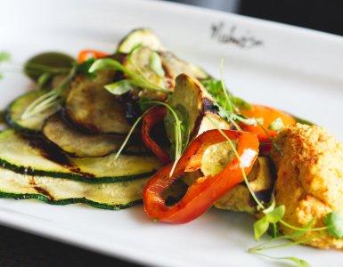 Vegan food at Chez Mal Malmaison Edinburgh