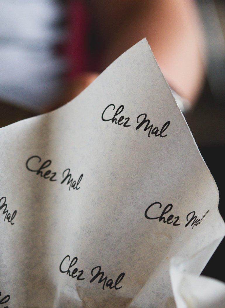 Chez Mal napkin at Malmaison, Edinburgh