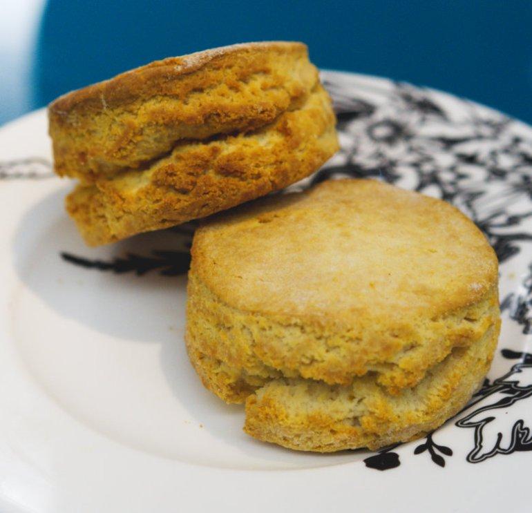 Vegan scones at Radisson Collection, Edinburgh
