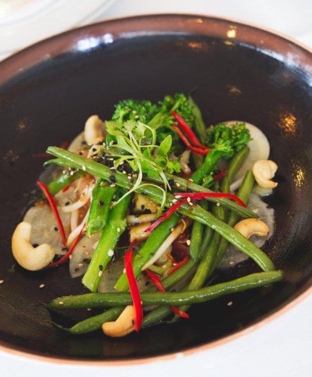 Vegan warm Asian salad at The Ivy, Edinburgh