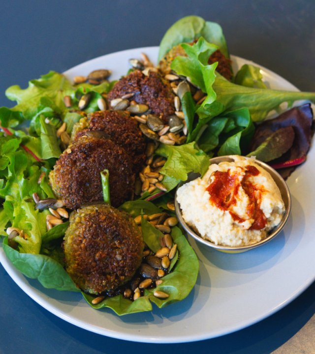 Vegan falafel at 305 Kitchen, Edinburgh