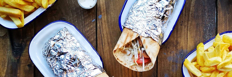 Vegan food at Karma Kebab, Edinburgh