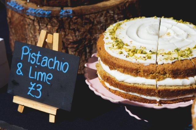 Vegan cake by Herbivore Kitchen at the Leith Vegan Quarter Market, Edinburgh