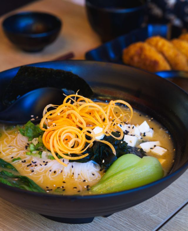Vegan miso ramen at Maki & Ramen Edinburgh
