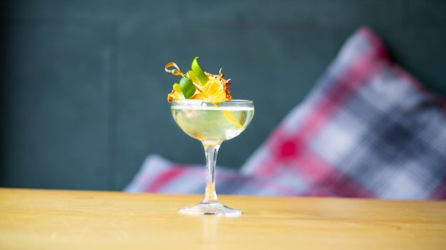 Vegan cocktail at 56 North, Edinburgh