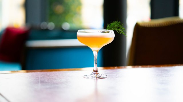 Vegan cocktail at Akva, Edinburgh