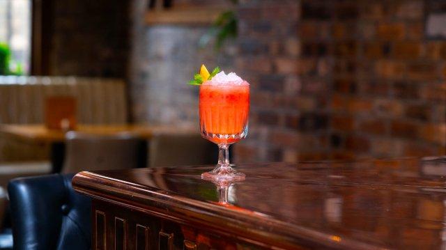 Vegan cocktail at Angels Share, Edinburgh