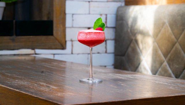Vegan cocktail at Indigo Yard, Edinburgh