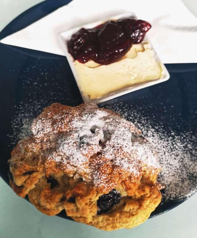 Vegan scone at Fredericks, Edinburgh