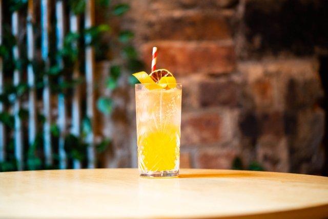 Vegan cocktail at Sofi's Southside, Edinburgh