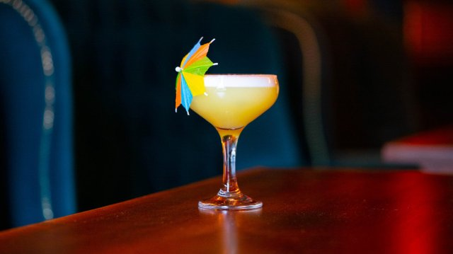 Vegan cocktail at The Barologist, Edinburgh