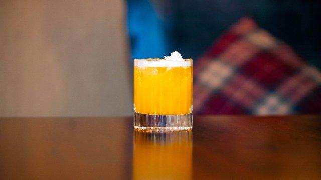 Vegan cocktail at The Glasshouse Hotel, Edinburgh