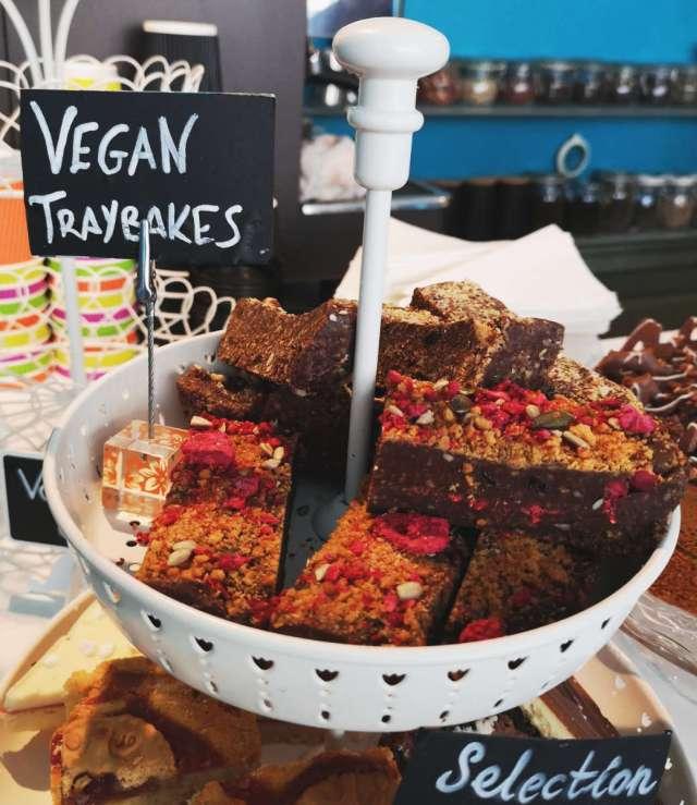 Vegan traybake at Fredericks, Edinburgh