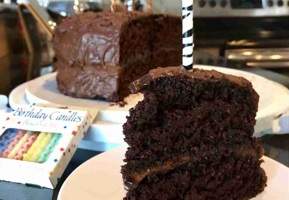 Healthy Aqua Faba Vegan Chocolate Birthday Cake: Fat-Free, Whole Wheat