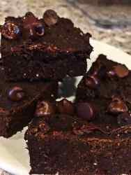 Vegan white bean brownies fat free
