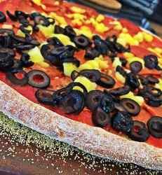 Vegan whole-wheat quick-rise no-oil pizza crust
