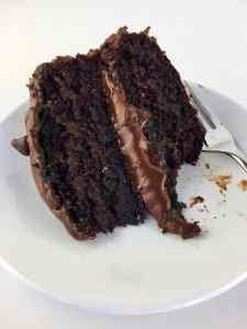 Vegan Whole Wheat Aquafaba Oil-free Chocolate Birthday Cake