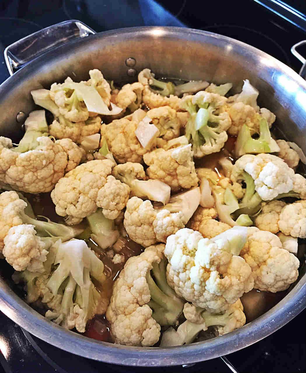 Cauliflower Chowder Before Tofu Cream