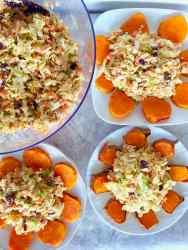 healthy vegan apple cabbage salad