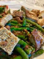 Whole-foods plant-based Green Bean Casserole
