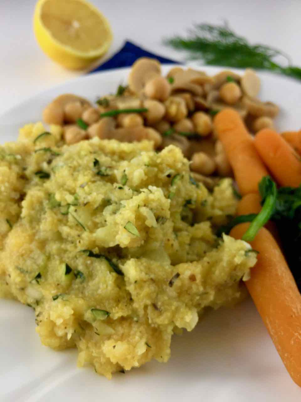 Easy Vegan Zuchinni Cornmeal Italian Polenta