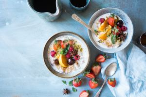 Plant Based Breakfast with fruit
