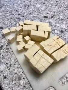 how to cube tofu