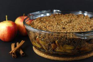 vegan healthy apple crisp