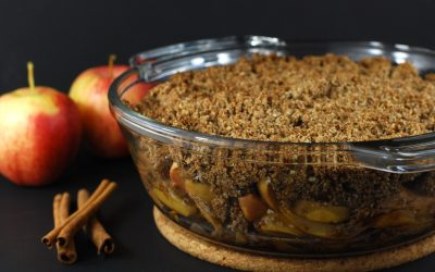 Healthy Apple Crumble (Apple Crisp, Apple Cobbler) Whole-Foods Plant-Based, Vegan, Gluten Free Dessert