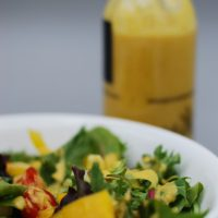 Low FODMAP Healthy Salad Dressing - Creamy Orange Vinaigrette - No-Oil