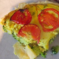 gluten free broccoli and sweetcorn quiche