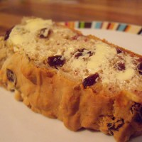 banana raisin teabread (gluten and sugar free)