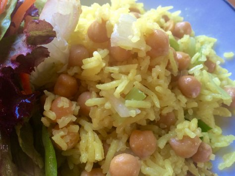 coconut chickpea rice