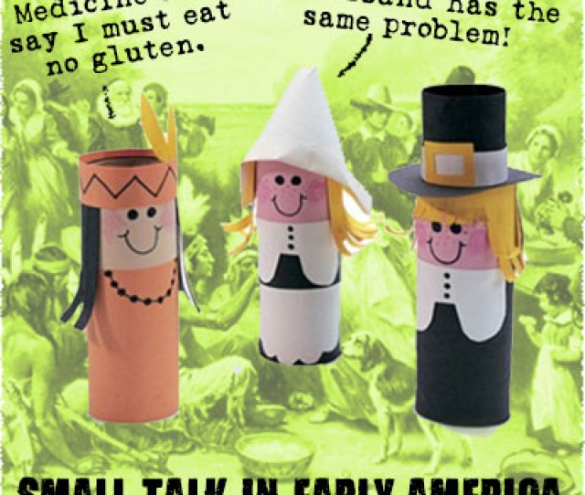 Three Toilet Paper Tubes One Dressed As A Native American Two As Pilgrims