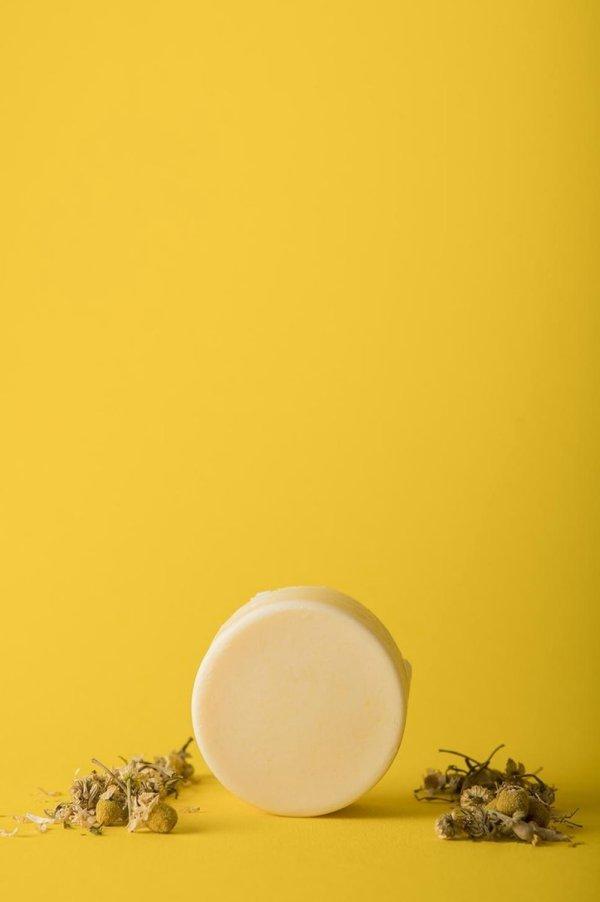 HappySoaps Conditioner Bar- Chamomile Relaxation- Vegan- Plasticvrij- Dierproefvrij- Palmolievrij- 65 gram
