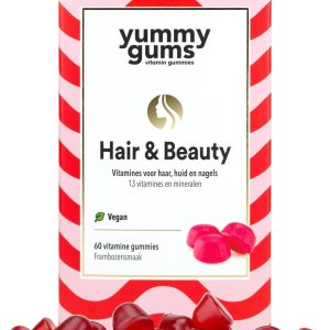 Yummygums - Hair & Beauty haar vitamine - 60 gummies - 3000 mcg biotine - vegan