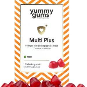 Yummygums - multivitamine gummies - vegan - 800% B12, D3 - 17 vitamines - volwassenen & kinderen