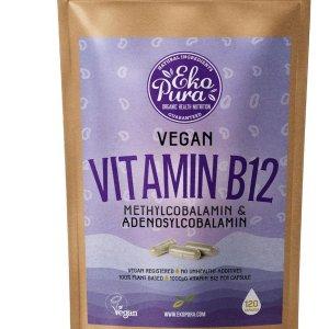 Vitamine B12 Vegan - Methyl en Adenosylcobalamine - 1000mcg per capsule (120 capsules, 4 maanden voorraad)