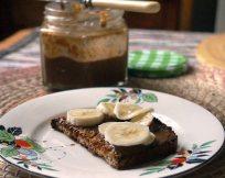 bananas and hazelnut butter on toast