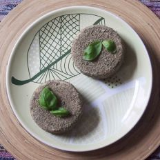 baked cashew cream cheese - coated in herbs