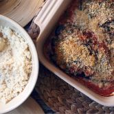 stuffed baked aubergines - served with cous-cous