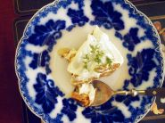 tropical banoffee pie - vegan - flavoured with coconut, ginger date, lemon and lime...and a toto of optional rum....